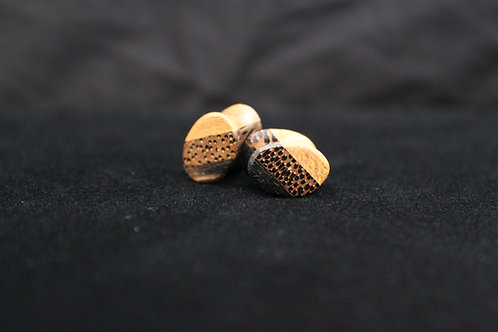 Leopard Wood Plugs and Tunnels