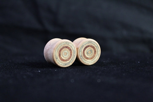 Maple Plugs with Blue Mahoe and Bloodwood Inlays