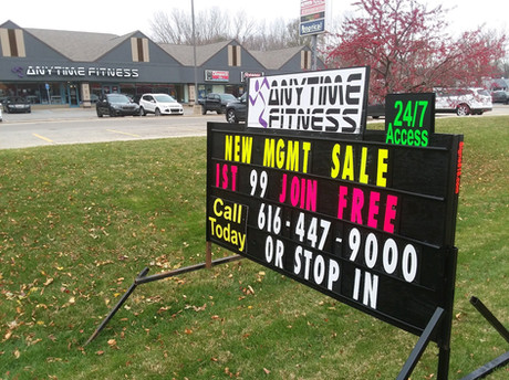 Michigan Black Signs, Portable Black Sign