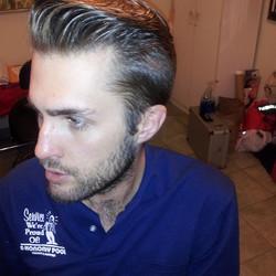I love cutting Kevin's hair