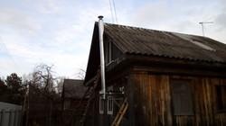 дымоход вдоль дома