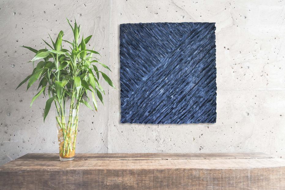 Cadre sculpté en bois / abstract / modern art