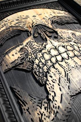 Cadre Skull 3D