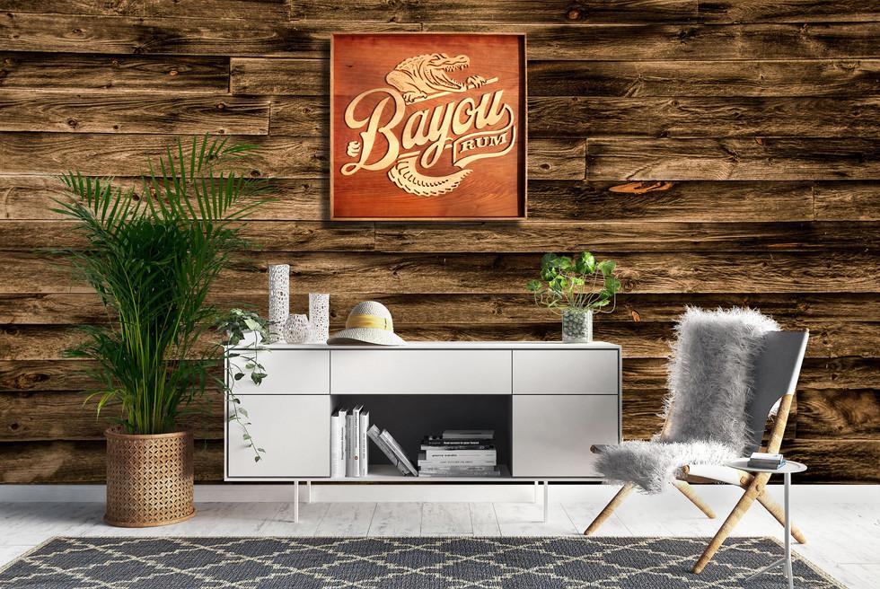 "Cadre logo ""Bayou rum"""