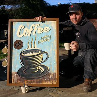 Support vintage tasses à café