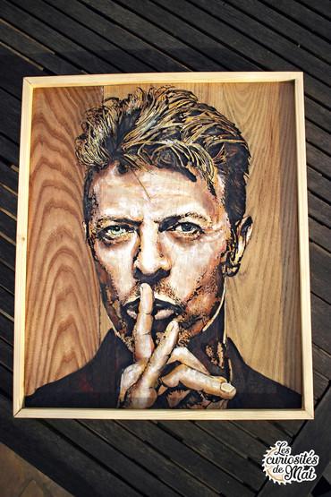 """Gravure sur bois """"David Bowie"""""""