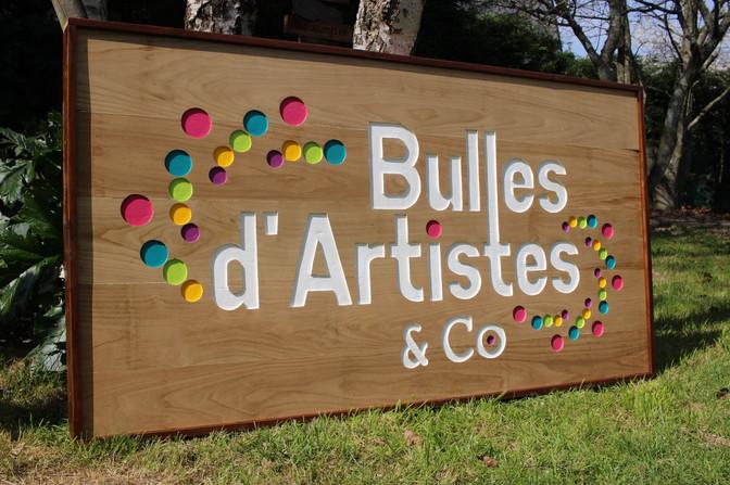 "Enseigne ""Bulles d'artistes & Co"""