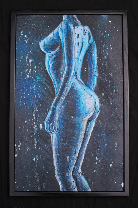 Nu femme bleu