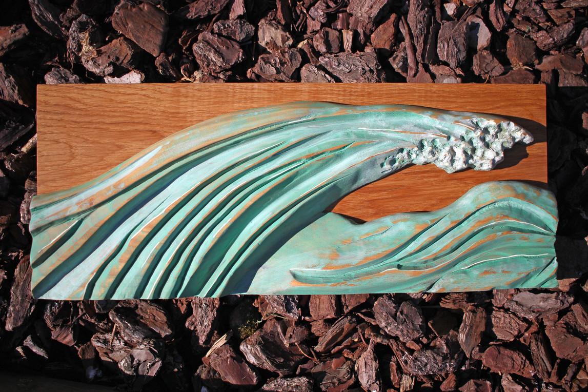 Vague sculptée en bois