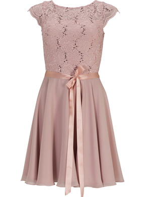 Abendkleid Abiballkleid Ballkleid Swing rosa kurz