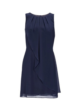 Abendkleid Abiballkleid Ballkleid Swing kurz blau