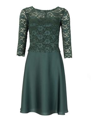 Abendkleid Abiballkleid Ballkleid Swing langarm grün