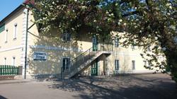 Aufgang zum Gesundheitszentrum