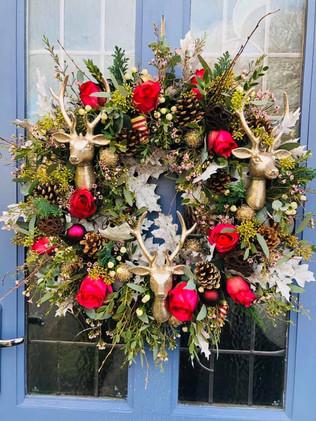 Stag Christmas wreath
