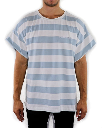 """WHY DID YOU"" STRIPED TEE"