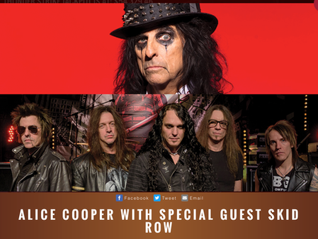 Skid Row to share the stage with Alice Cooper