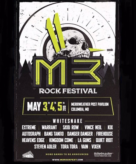 Tickets On Sale: M3 Rock Festival