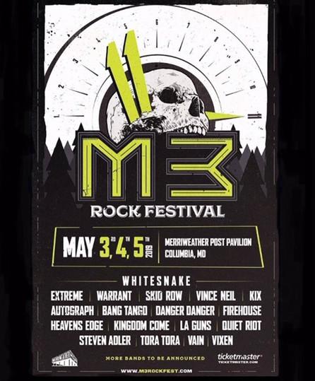 Tickets On Sale: M3 Rock Festival