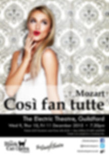 Cosi fan Tutte poster Black Cat Opera