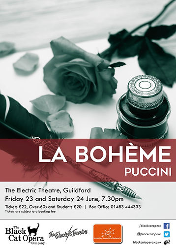 La Boheme Poster Black Cat Opera