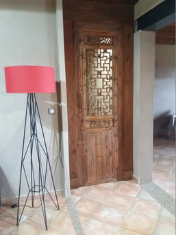 La porte terminée