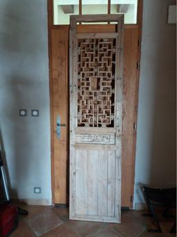 La porte lors de la visite