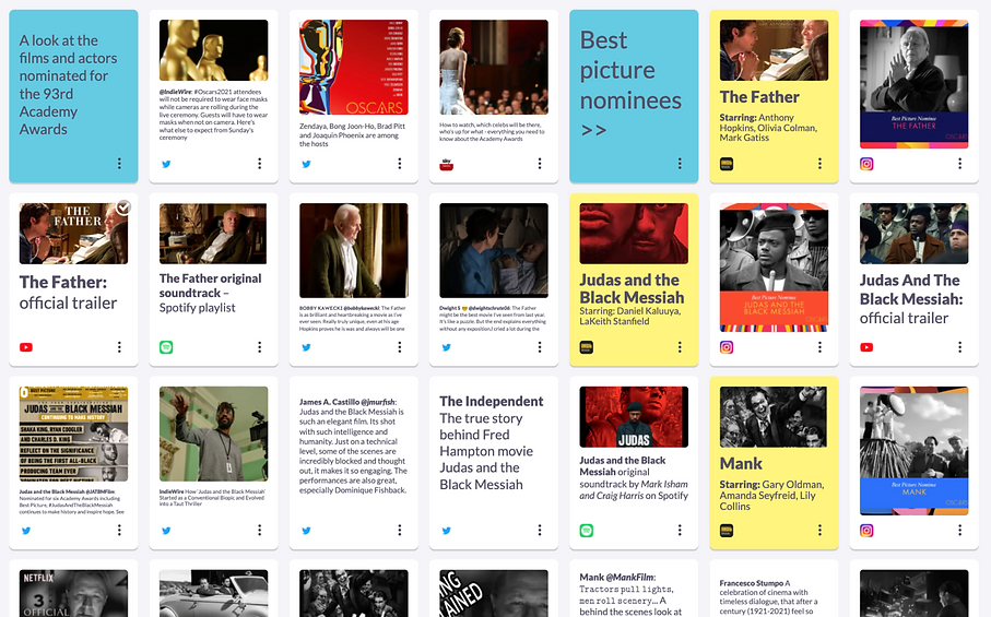 Academy Awards: at-a-glance preview of the 2021 Oscars