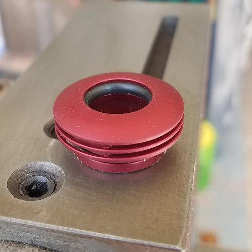502 Matte Red Aluminum Cap