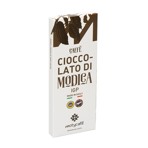 CHOCOLATE OF MODICA WITH COFFEE IGP