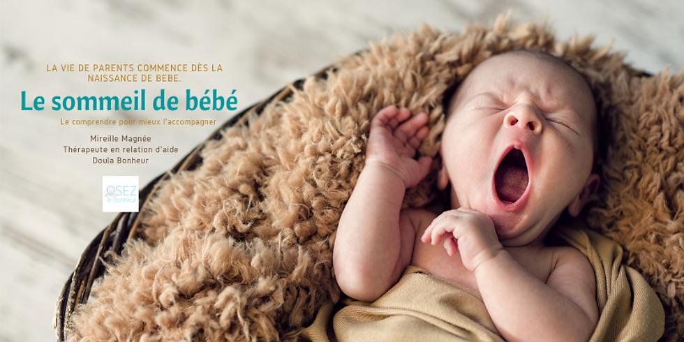 Le sommeil de bébé, jusqu'à 5 ans.