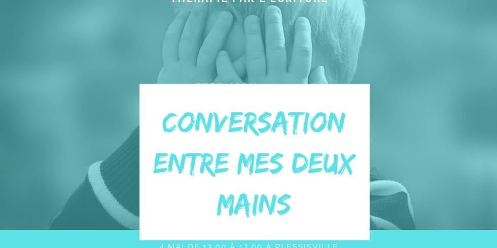 Conversation entre mes deux mains (thérapie par l'écriture)