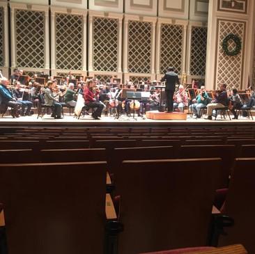 Cincinnati Symphony Rehearsal