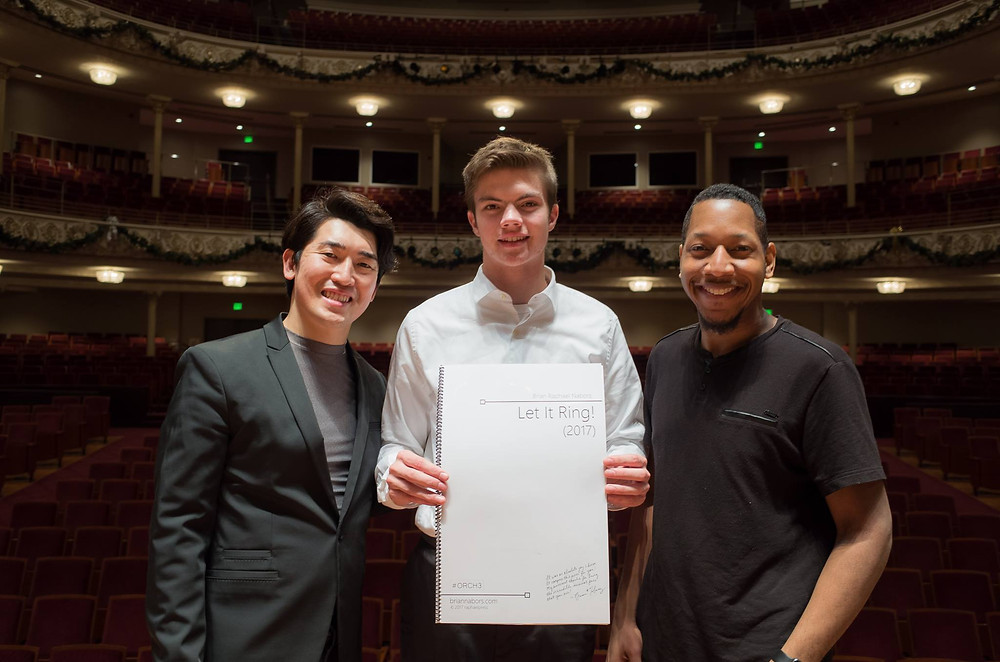 Associate conductor of the CSO - Keitaro Harada, Winner of the 2017-18 CSO Melody Contest - John Lawrie, Composer - Brian Raphael Nabors