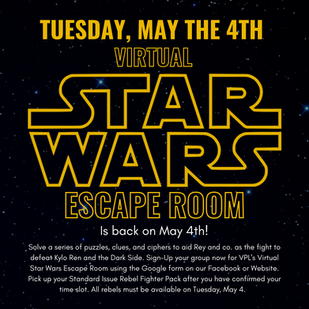 Virtual Star Wars Escape Room is back on May the 4th!