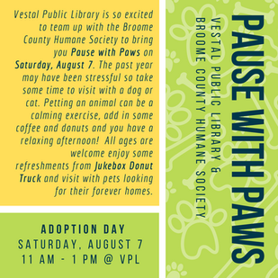 Pause with Paws: Saturday, August 7