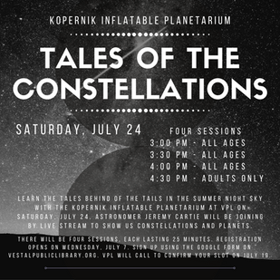 Tales of the Constellations Spots available for 4:30