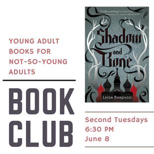 YA Book Club Tonight at 6:30