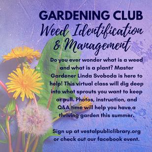 Gardening Class on Saturday, June 19