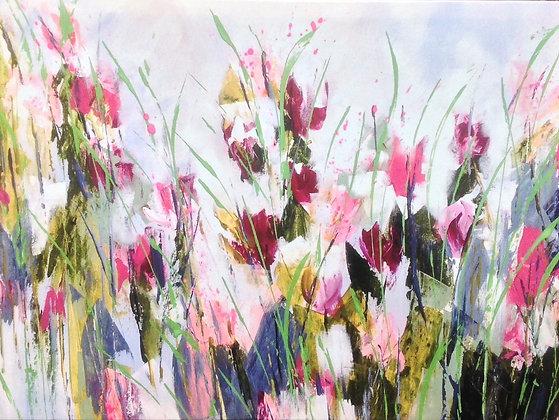 Splendour in the Grass Original Print 100cm x 75cm x 2cm