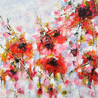 Falling Poppies - SOLD
