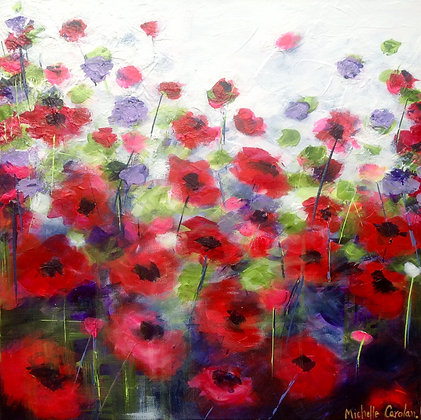 Windswept Poppies - SOLD