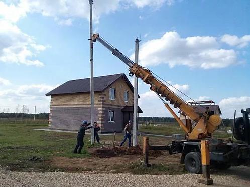 Строительство и монтаж линий ЛЭП, столбов, опор, бурение