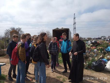 В Ахтубинске проведена акция по уборке кладбища