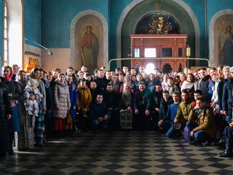 Группа молодёжи из Астрахани совершила паломничество в с. Никольское