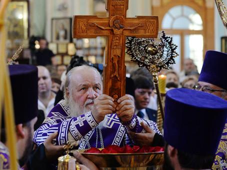 Святейший Патриарх Кирилл совершил всенощное бдение в Казанском храме в Астрахани