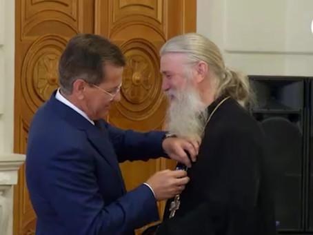 Протоиерей Александр Максимов награждён медалью ордена «За заслуги перед Астраханской областью»