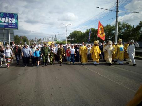 Владыка Антоний принимает участие в крестном ходе в село Коробейниково к чудотворному образу Казанск