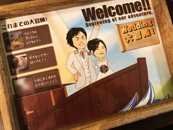 結婚式用 似顔絵ウェルカムボード