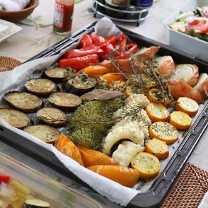 野菜の旨味が凝縮☆夏野菜のハーブ焼き
