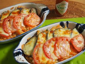 大人気☆ナスとトマトのチーズドリア